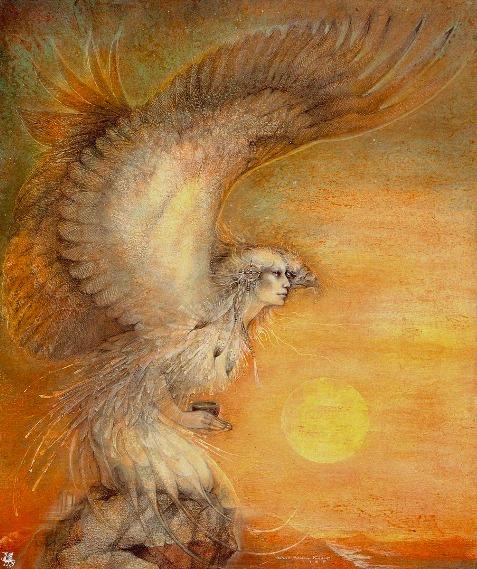 águila visión mujer